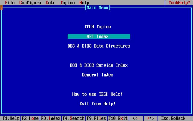Справочник для программиста asstmbler MS-DOS T-HELP