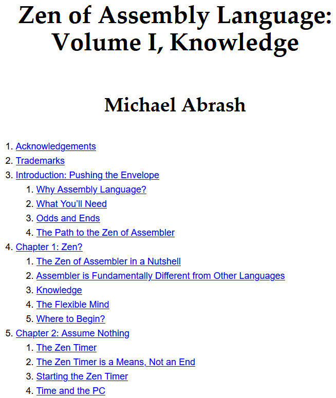 Майкл Абраш: ассемблерный Дзен.